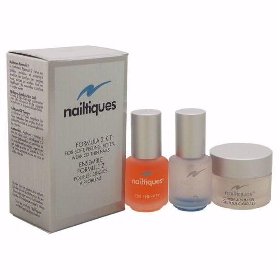 Nailtiques  Formula # 2 Kit 7ml Nail Protein Formula # 2, 7g Cuticle & Skin Gel, 7ml oz Oil Therapy for Unisex 3 Pc Kit - Nails Polish and Nail Colors | Popular Nail Colors | Best Nail Polish Colors | Holiday Nail Colors | Nail Polish Colors For Sale | Nail polish Online | AromaCraze.com