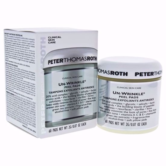 Peter Thomas Roth Un-Wrinkle Unisex Peel Pads 60 Pc - Face Makeup Products | Face Cosmetics | Face Makeup Kit | Face Foundation Makeup | Top Brand Face Makeup | Best Makeup Brands | Buy Makeup Products Online | AromaCraze.com