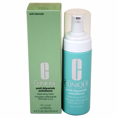 Clinique Anti-Blemish Solutions Cleansing Foam Unisex 4.2 oz - Face Makeup Products | Face Cosmetics | Face Makeup Kit | Face Foundation Makeup | Top Brand Face Makeup | Best Makeup Brands | Buy Makeup Products Online | AromaCraze.com