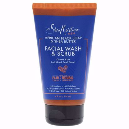 Shea Moisture Butter Facial Wash Scrub Cleanser Men 4 oz - Makeup Remover Products | Makeup Remover Wipes | Best makeup remover for sensitive skin | Face Makeup Remover | Eye Makeup Remover | Makeup Products on Sale | AromaCraze.com