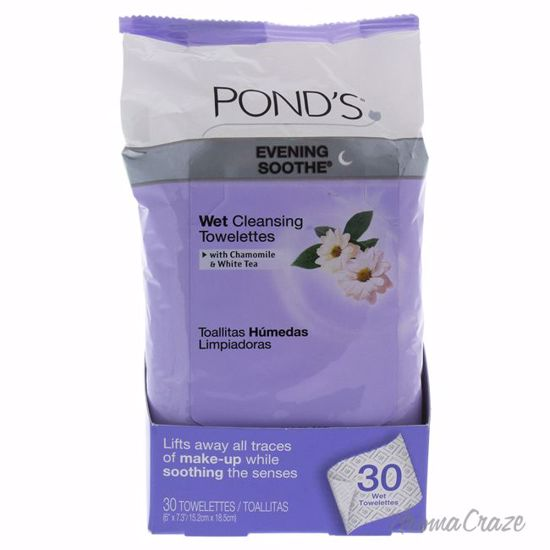 Pond's Evening Soothe Wet Cleansing Towelettes Unisex 30 Pc