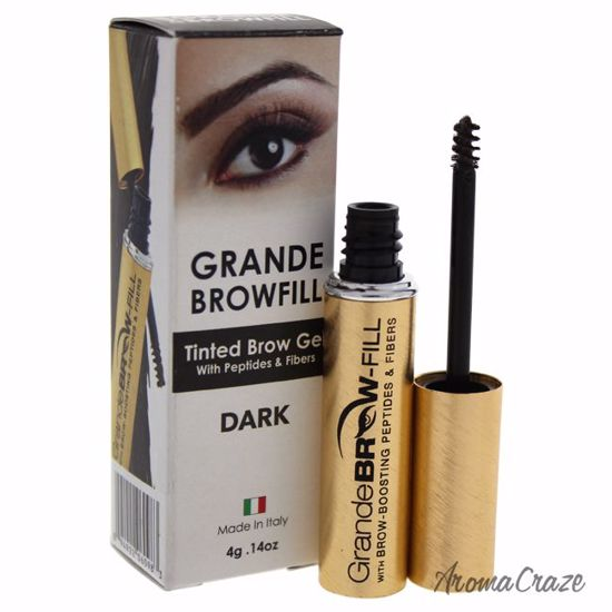 Grande Naturals Grande Browfill Tinted Dark Eyebrow Gel for Women 0.14 oz - Eye Makeup | Eye Makeup Kit | Eye Shadow | Eye liner | Eye Mascara | Eye Cosmetics Products | Eye Makeup For Big Eyes | Buy Eye Makeup Online | AromaCraze.com