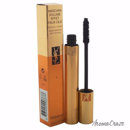 Yves Saint Laurent Mascara Volume Effet Faux Cils # 1 High Density Black (Tester) for Women 0.2 oz - Eye Makeup | Eye Makeup Kit | Eye Shadow | Eye liner | Eye Mascara | Eye Cosmetics Products | Eye Makeup For Big Eyes | Buy Eye Makeup Online | AromaCraze.com