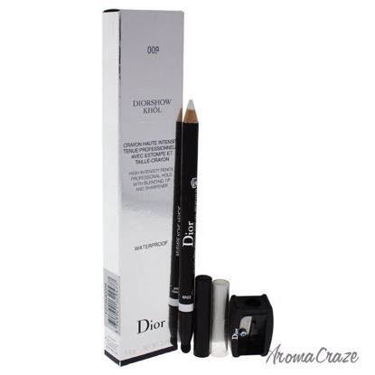 Dior by Christian Diorshow Khol Pencil Waterproof With Sharpener # 009 White Khol Eyeliner for Women 2 Pc - Eye Makeup | Eye Makeup Kit | Eye Shadow | Eye liner | Eye Mascara | Eye Cosmetics Products | Eye Makeup For Big Eyes | Buy Eye Makeup Online | AromaCraze.com