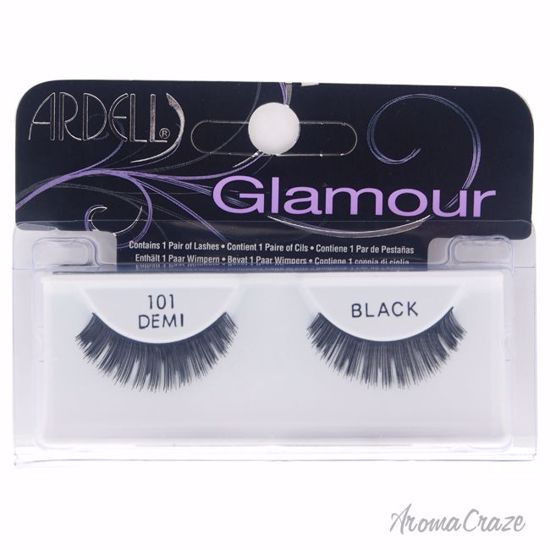 Ardell Glamour Lashes # 101 Black Eyelashes for Women 1 Pair - Eye Makeup | Eye Makeup Kit | Eye Shadow | Eye liner | Eye Mascara | Eye Cosmetics Products | Eye Makeup For Big Eyes | Buy Eye Makeup Online | AromaCraze.com