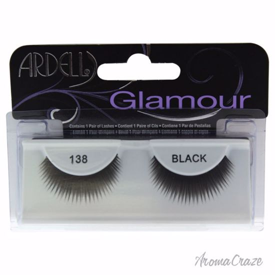 Ardell Glamour # 138 Black Eyelashes for Women 1 Pair - Eye Makeup | Eye Makeup Kit | Eye Shadow | Eye liner | Eye Mascara | Eye Cosmetics Products | Eye Makeup For Big Eyes | Buy Eye Makeup Online | AromaCraze.com