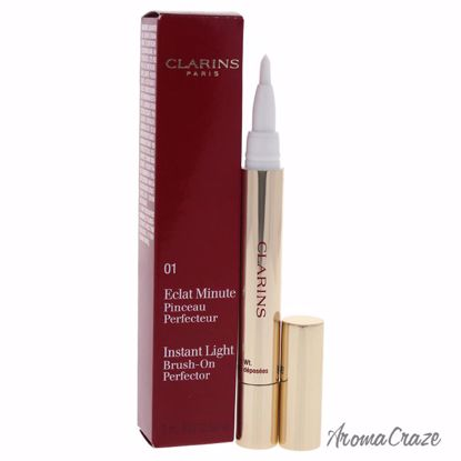 Clarins Instant Light Brush-On Perfector # 01 Pink Beige Brush for Women 0.07 oz - Face Makeup Products | Face Cosmetics | Face Makeup Kit | Face Foundation Makeup | Top Brand Face Makeup | Best Makeup Brands | Buy Makeup Products Online | AromaCraze.com
