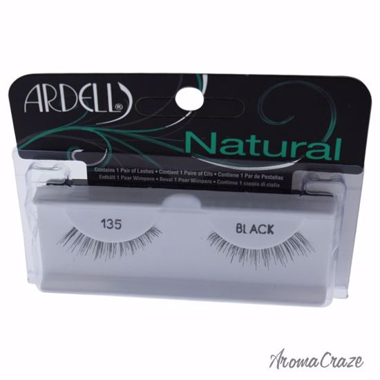 Ardell Natural # 135 Black Eyelashes for Women 1 Pair - Eye Makeup | Eye Makeup Kit | Eye Shadow | Eye liner | Eye Mascara | Eye Cosmetics Products | Eye Makeup For Big Eyes | Buy Eye Makeup Online | AromaCraze.com