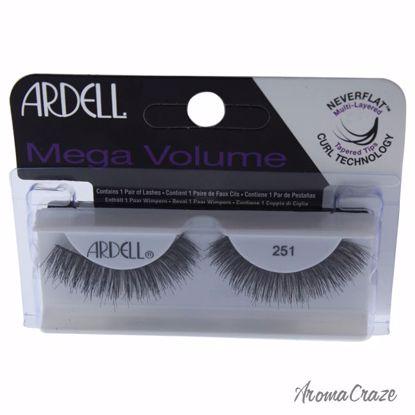 Ardell Mega Volume # 251 Black Eyelashes for Women 1 Pair