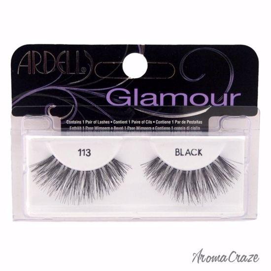 Ardell Glamour # 113 Black Eyelashes for Women 1 Pair
