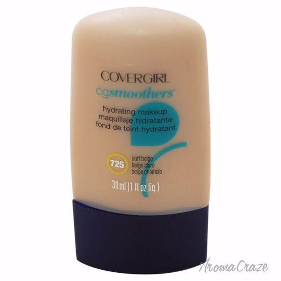 CoverGirl CG Smoothers Hydrating Make-Up # 725 Buff Beige Foundation for Women 1 oz - Face Makeup Products | Face Cosmetics | Face Makeup Kit | Face Foundation Makeup | Top Brand Face Makeup | Best Makeup Brands | Buy Makeup Products Online | AromaCraze.com