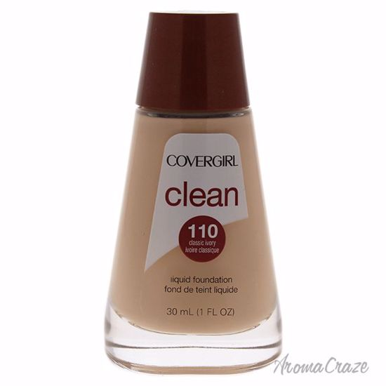 CoverGirl Clean Liquid # 110 Classic Ivory Foundation for Women 1 oz - Face Makeup Products | Face Cosmetics | Face Makeup Kit | Face Foundation Makeup | Top Brand Face Makeup | Best Makeup Brands | Buy Makeup Products Online | AromaCraze.com