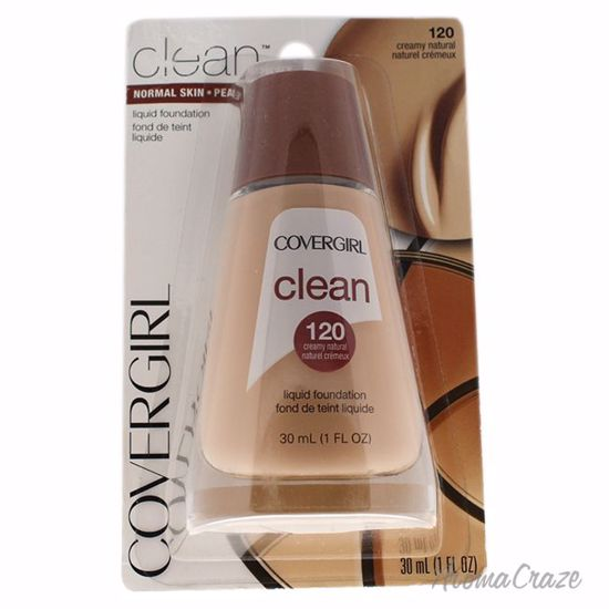 CoverGirl Clean Liquid # 120 Creamy Natural Foundation for Women 1 oz - Face Makeup Products | Face Cosmetics | Face Makeup Kit | Face Foundation Makeup | Top Brand Face Makeup | Best Makeup Brands | Buy Makeup Products Online | AromaCraze.com