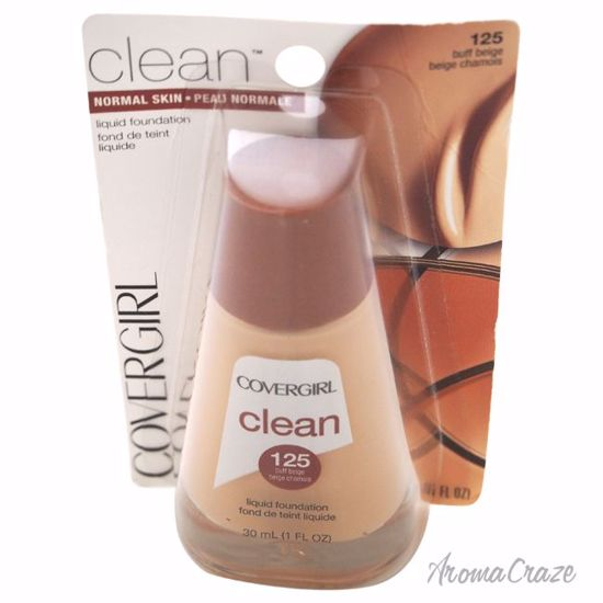 CoverGirl Clean Liquid # 125 Buff Beige Foundation for Women 1 oz - Face Makeup Products | Face Cosmetics | Face Makeup Kit | Face Foundation Makeup | Top Brand Face Makeup | Best Makeup Brands | Buy Makeup Products Online | AromaCraze.com