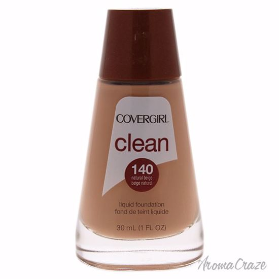 CoverGirl Clean Liquid # 140 Natural Beige Foundation for Women 1 oz - Face Makeup Products | Face Cosmetics | Face Makeup Kit | Face Foundation Makeup | Top Brand Face Makeup | Best Makeup Brands | Buy Makeup Products Online | AromaCraze.com