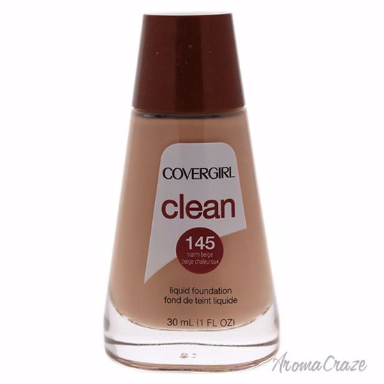 CoverGirl Clean Liquid # 145 Warm Beige Foundation for Women 1 oz - Face Makeup Products | Face Cosmetics | Face Makeup Kit | Face Foundation Makeup | Top Brand Face Makeup | Best Makeup Brands | Buy Makeup Products Online | AromaCraze.com