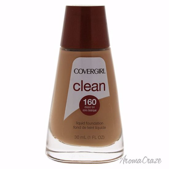 CoverGirl Clean Liquid # 160 Classic Tan Foundation for Women 1 oz - Face Makeup Products | Face Cosmetics | Face Makeup Kit | Face Foundation Makeup | Top Brand Face Makeup | Best Makeup Brands | Buy Makeup Products Online | AromaCraze.com
