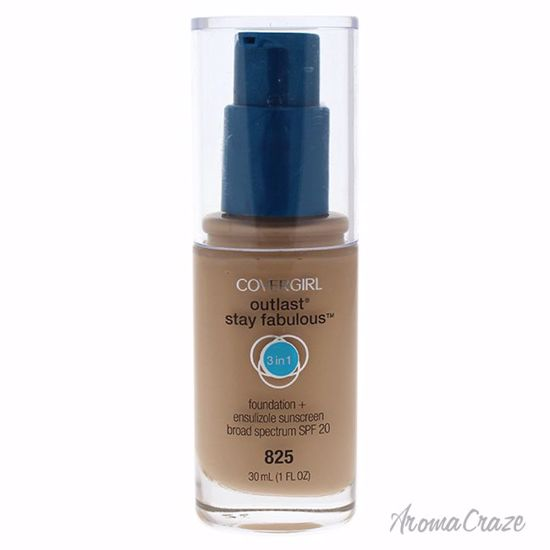 CoverGirl Outlast Stay Fabulous 3-in-1 SPF 20 # 825 Buff Beige Foundation for Women 1 oz - Face Makeup Products | Face Cosmetics | Face Makeup Kit | Face Foundation Makeup | Top Brand Face Makeup | Best Makeup Brands | Buy Makeup Products Online | AromaCraze.com