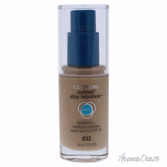 CoverGirl Outlast Stay Fabulous 3-in-1 SPF 20 # 832 Nude Beige Foundation for Women 1 oz - Face Makeup Products | Face Cosmetics | Face Makeup Kit | Face Foundation Makeup | Top Brand Face Makeup | Best Makeup Brands | Buy Makeup Products Online | AromaCraze.com
