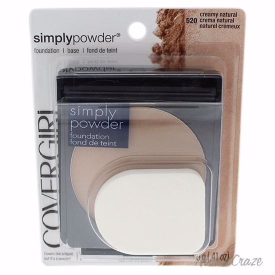 CoverGirl Simply Powder # 520 Creamy Natural Foundation for Women 0.41 oz - Face Makeup Products | Face Cosmetics | Face Makeup Kit | Face Foundation Makeup | Top Brand Face Makeup | Best Makeup Brands | Buy Makeup Products Online | AromaCraze.com