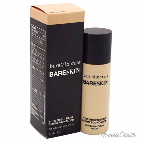 bareMinerals BareSkin Pure Brightening Serum SPF 20 Bare Linen 03 Foundation for Women 1 oz - Face Makeup Products | Face Cosmetics | Face Makeup Kit | Face Foundation Makeup | Top Brand Face Makeup | Best Makeup Brands | Buy Makeup Products Online | AromaCraze.com