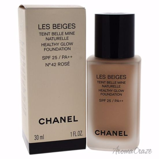 Chanel Les Beiges Healthy Glow Foundation SPF 25 # 42 Rose for Women 1 oz - Face Makeup Products | Face Cosmetics | Face Makeup Kit | Face Foundation Makeup | Top Brand Face Makeup | Best Makeup Brands | Buy Makeup Products Online | AromaCraze.com