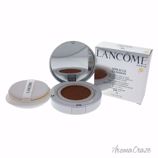 Lancome Miracle Liquid Cushion Compact Foundation SPF 23 # 03 Beige Peche for Women 0.51 oz - Face Makeup Products | Face Cosmetics | Face Makeup Kit | Face Foundation Makeup | Top Brand Face Makeup | Best Makeup Brands | Buy Makeup Products Online | AromaCraze.com