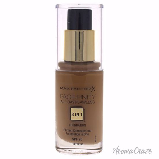 Max Factor Facefinity All Day Flawless 3 In 1 SPF20 # 90 Toffee Foundation for Women 30 ml - Face Makeup Products | Face Cosmetics | Face Makeup Kit | Face Foundation Makeup | Top Brand Face Makeup | Best Makeup Brands | Buy Makeup Products Online | AromaCraze.com