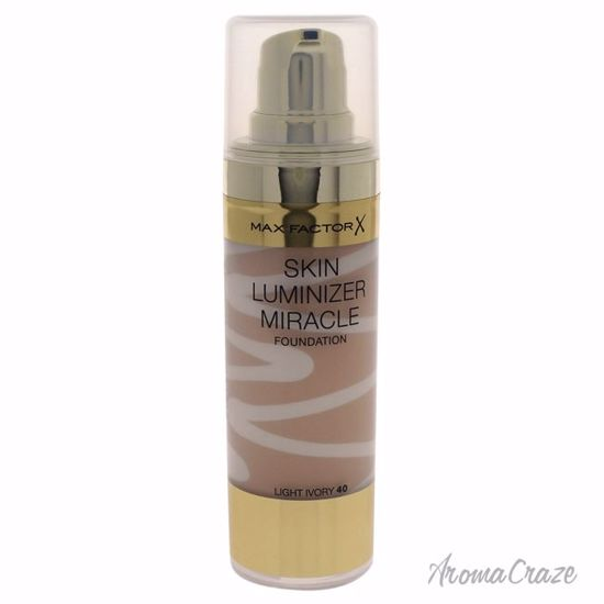 Max Factor Skin Luminizer Miracle Foundation#40 Light Ivory for Women 30 ml - Face Makeup Products | Face Cosmetics | Face Makeup Kit | Face Foundation Makeup | Top Brand Face Makeup | Best Makeup Brands | Buy Makeup Products Online | AromaCraze.com