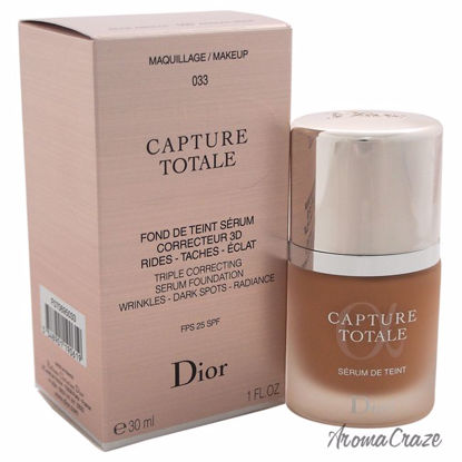 Christian Dior Capture Totale Triple Correcting Serum Foundation SPF 25 # 033 Apricot Beige for Women 1 oz - Face Makeup Products | Face Cosmetics | Face Makeup Kit | Face Foundation Makeup | Top Brand Face Makeup | Best Makeup Brands | Buy Makeup Products Online | AromaCraze.com
