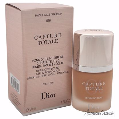 Christian Dior Capture Totale Triple Correcting Serum Foundation SPF 25 # 010 Ivory for Women 1 oz - Face Makeup Products | Face Cosmetics | Face Makeup Kit | Face Foundation Makeup | Top Brand Face Makeup | Best Makeup Brands | Buy Makeup Products Online | AromaCraze.com