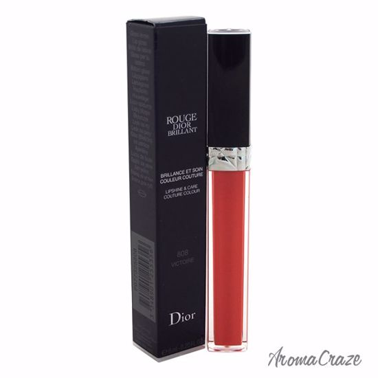 Christian Dior Rouge Dior Brillant Lip Gloss # 808 Victoire for Women 0.2 oz - Lip Makeup | Lip Makeup Products | Best Lipsticks Colors | Lip Cosmetics | Lipsticks and Lip Colors | Lip Gloass | Best Lipsticks Brands | Make up cosmetics | AromaCraze.com