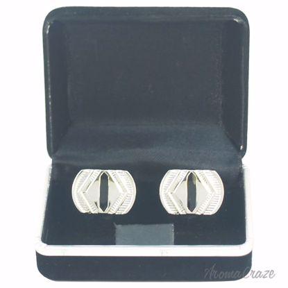B19 Cufflinks by Polanni for Men - W 2.2 x L 1.6 cm Cufflink