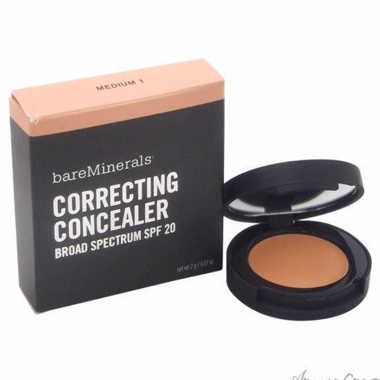 Correcting Concealer SPF 20 - Medium 1 by bareMinerals for Women - 0.07 oz Concealer - Face Makeup Products | Face Cosmetics | Face Makeup Kit | Face Foundation Makeup | Top Brand Face Makeup | Best Makeup Brands | Buy Makeup Products Online | AromaCraze.com