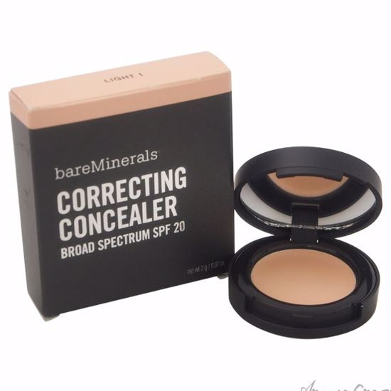 Correcting Concealer SPF 20 - Light 1 by bareMinerals for Women - 0.07 oz Concealer - Face Makeup Products | Face Cosmetics | Face Makeup Kit | Face Foundation Makeup | Top Brand Face Makeup | Best Makeup Brands | Buy Makeup Products Online | AromaCraze.com