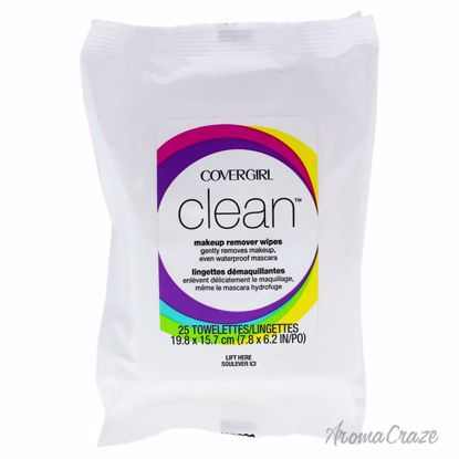 Clean Make-Up Remover Wipes by CoverGirl for Women - 25 Sheets Wipes - Makeup Remover Products | Makeup Remover Wipes | Best makeup remover for sensitive skin | Face Makeup Remover | Eye Makeup Remover | Makeup Products on Sale | AromaCraze.com