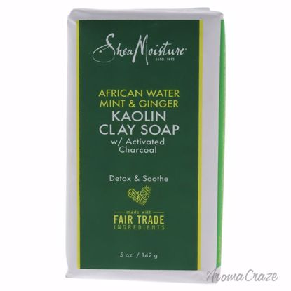 African Water Mint and Ginger Kaolin Clay Soap by Shea Moisture for Unisex - 5 oz Bar Soap - Face Makeup Products | Face Cosmetics | Face Makeup Kit | Face Foundation Makeup | Top Brand Face Makeup | Best Makeup Brands | Buy Makeup Products Online | AromaCraze.com