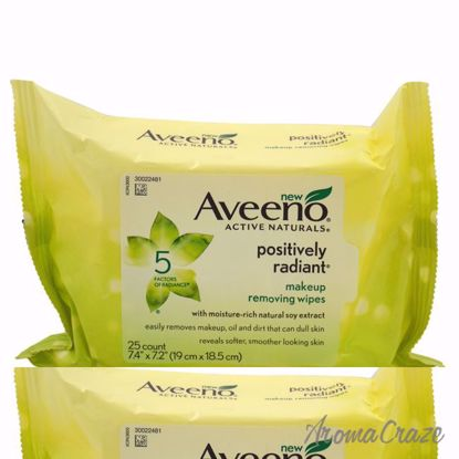 Positively Radiant Makeup Removing Wipes by Aveeno for Women