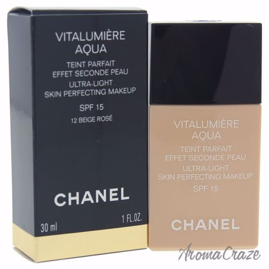 Vitalumiere Aqua Ultra Light Skin Perfecting Makeup SPF15 - # 12 Beige Rose by Chanel for Women - 1 oz Foundation - Face Makeup Products | Face Cosmetics | Face Makeup Kit | Face Foundation Makeup | Top Brand Face Makeup | Best Makeup Brands | Buy Makeup Products Online | AromaCraze.com
