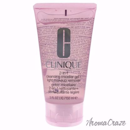 Clinique 2-in-1 Cleansing Micellar Gel + Light Makeup Remover  for Women - 5 oz