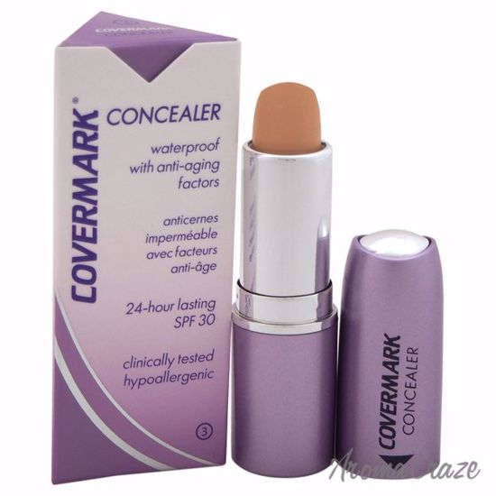 Concealer Waterproof with Anti-Aging Factors SPF 30 - # 3 by Covermark for Women - 0.18 oz Concealer - Face Makeup Products | Face Cosmetics | Face Makeup Kit | Face Foundation Makeup | Top Brand Face Makeup | Best Makeup Brands | Buy Makeup Products Online | AromaCraze.com