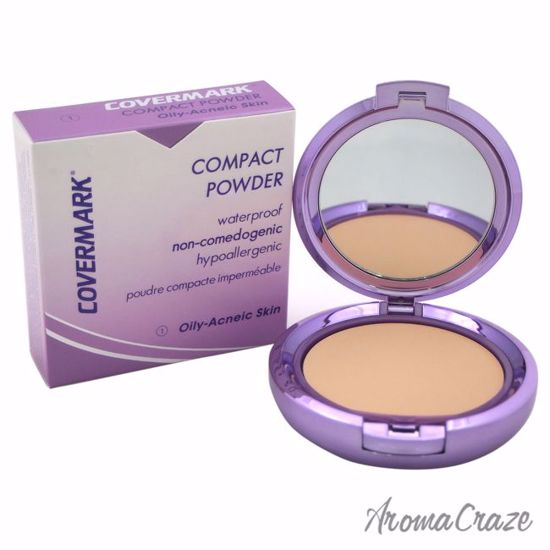 Compact Powder Waterproof - # 1 - Oily-Acneic Skin by Covermark for Women - 0.35 oz Powder - Face Makeup Products | Face Cosmetics | Face Makeup Kit | Face Foundation Makeup | Top Brand Face Makeup | Best Makeup Brands | Buy Makeup Products Online | AromaCraze.com