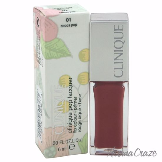 Clinique Pop Lacquer Lip Colour + Primer # 01 Cocoa Pop by Clinique for Women - 0.20 oz Lip Gloss - Lip Makeup | Lip Makeup Products | Best Lipsticks Colors | Lip Cosmetics | Lipsticks and Lip Colors | Lip Gloass | Best Lipsticks Brands | Make up cosmetics | AromaCraze.com