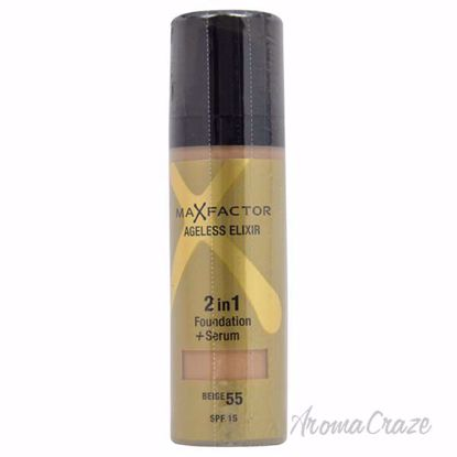 Ageless Elixir 2in1 Foundation + Serum SPF 15 - # 55 Beige by Max Factor for Women - 30 ml Foundation + Serum - Face Makeup Products | Face Cosmetics | Face Makeup Kit | Face Foundation Makeup | Top Brand Face Makeup | Best Makeup Brands | Buy Makeup Products Online | AromaCraze.com