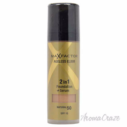 Ageless Elixir 2in1 Foundation + Serum SPF 15 - # 50 Natural by Max Factor for Women - 30 ml Foundation + Serum - Face Makeup Products | Face Cosmetics | Face Makeup Kit | Face Foundation Makeup | Top Brand Face Makeup | Best Makeup Brands | Buy Makeup Products Online | AromaCraze.com