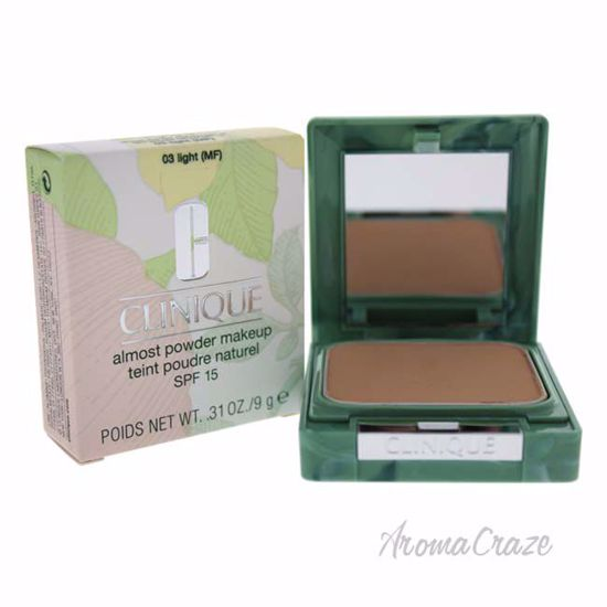 Almost Powder MakeUp SPF 15 - # 03 Light by Clinique for Women - 0.31 oz Foundation - Face Makeup Products | Face Cosmetics | Face Makeup Kit | Face Foundation Makeup | Top Brand Face Makeup | Best Makeup Brands | Buy Makeup Products Online | AromaCraze.com