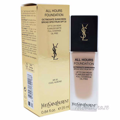 Yves Saint Laurent All Hours Foundation SPF 20 - BR30 Cool Almond for Women - 0.84 oz