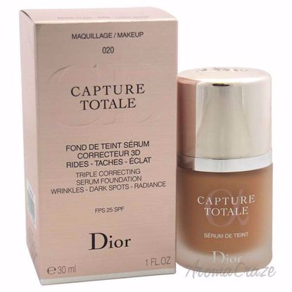 Capture Totale Triple Correcting Serum Foundation SPF 25 # - 020 Light Beige by Christian Dior for Women - 1 oz Foundation - Face Makeup Products | Face Cosmetics | Face Makeup Kit | Face Foundation Makeup | Top Brand Face Makeup | Best Makeup Brands | Buy Makeup Products Online | AromaCraze.com