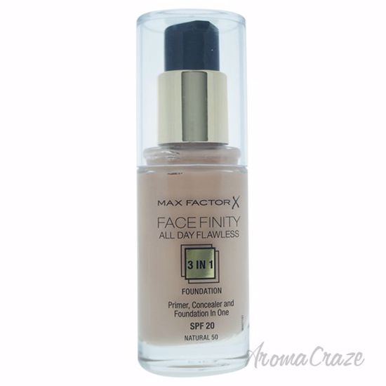 Facefinity All Day Flawless 3 In 1 Foundation SPF 20 - # 50 Natural by Max Factor for Women - 30 ml Foundation