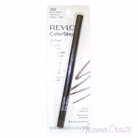 Picture of ColorStay Eyeliner Pencil # 202 Black Brown by Revlon for Unisex - 0.01 oz Eyeliner Pencil